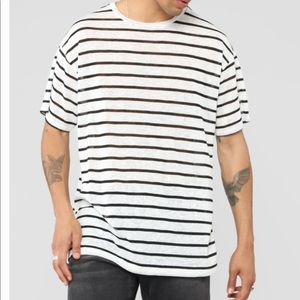 Striped men's shirt -over sized